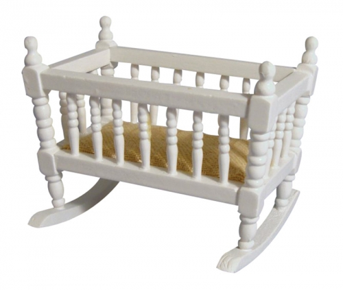 Rocking Crib Cot or Cradle - white