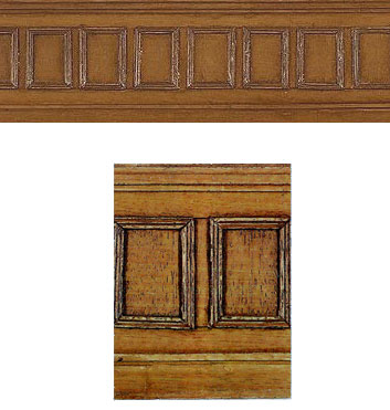 Textured Wood Effect Panelling